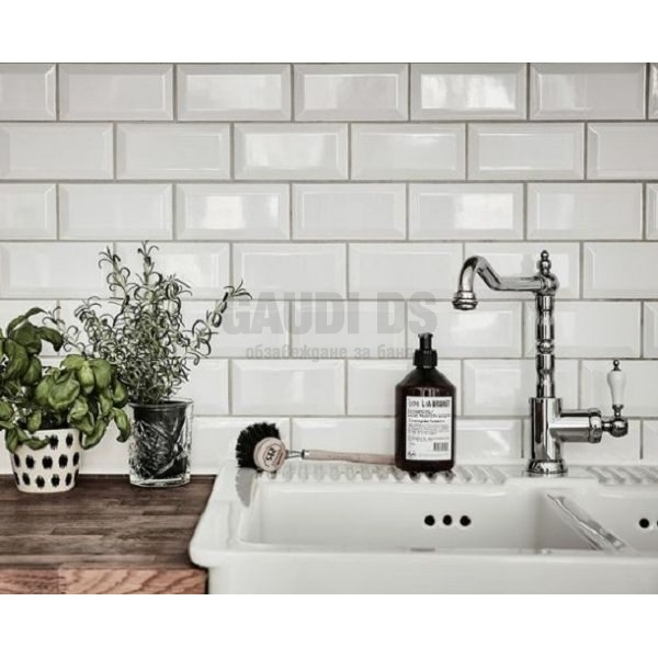Demireks Metro white glossy 10x20 плочки за баня и кухня - бял demireks_ metro_wh