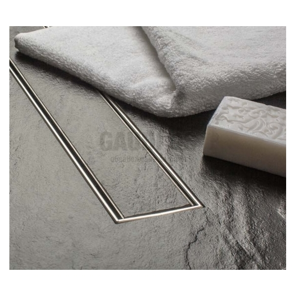 MCH Tile линеен сифон с метална рамка за плочка 45 см, Ф 40 CH 450 KN_pl