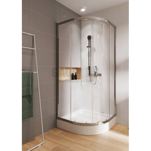 Cersanit Basic овална душ кабина 90х90х185 см - прозрачно стъкло S158-005