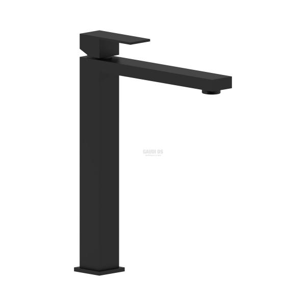Ponsi Italia R квадратен смесител за мивка, висок, черен мат BTITRKLAF5