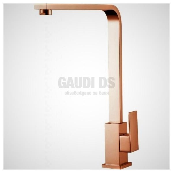 Висок смесител Elida за кухня, розово злато ICF 7107018K