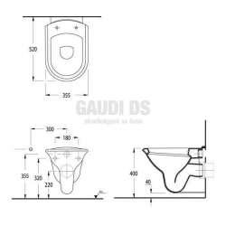 Конзолна тоалетна чиния Serel Orkide 2