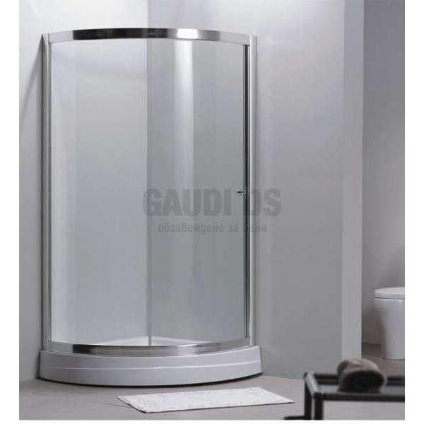 Овална душ кабина с една врата