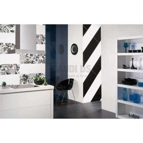 Серия Logic 33x60 - бяло, черно и сиво с декори, всичко е на м2!