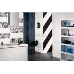 Серия Logic 33x60 - бяло, черно и сиво с декори, всичко е на м2! F0000058