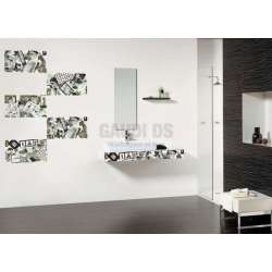 Серия Logic 33x60 - бяло, черно и сиво с декори, всичко е на м2! 2