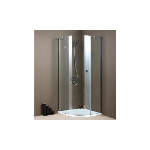 Овална душ кабина по поръчка с врата с панти в цънтъра 6мм 8 мм