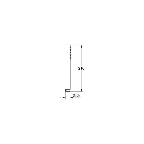 Квадратен ръчен душ Grohe Euphoria Cube 27698000