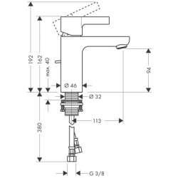 Hansgrohe Metris S смесител за мивка 2