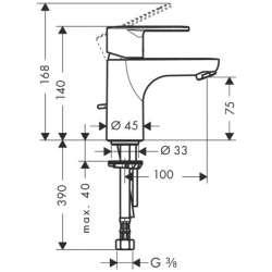 Hansgrohe Talis E2 смесител за мивка с изпразнител 2