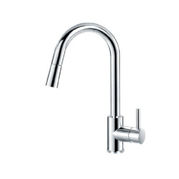 Bergsee Аполо смесител за кухня с изтеглящ се душ