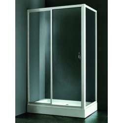 Правоъгълна душ кабина 120х80 - прозрачно стъкло