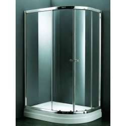 Овална душ кабина 120х90 с плъзгащи се врати - прозрачна