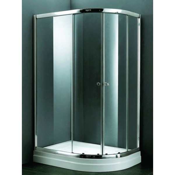Овална душ кабина 120х90 с плъзгащи се врати - прозрачна MY-4039