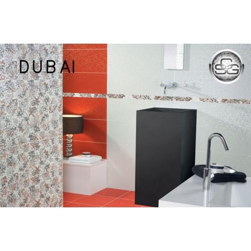 Dubai 25х75 - баня в черно и червено