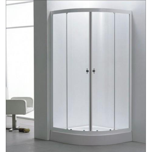 Овална душ кабина 90х90 с плъзгащи се врати