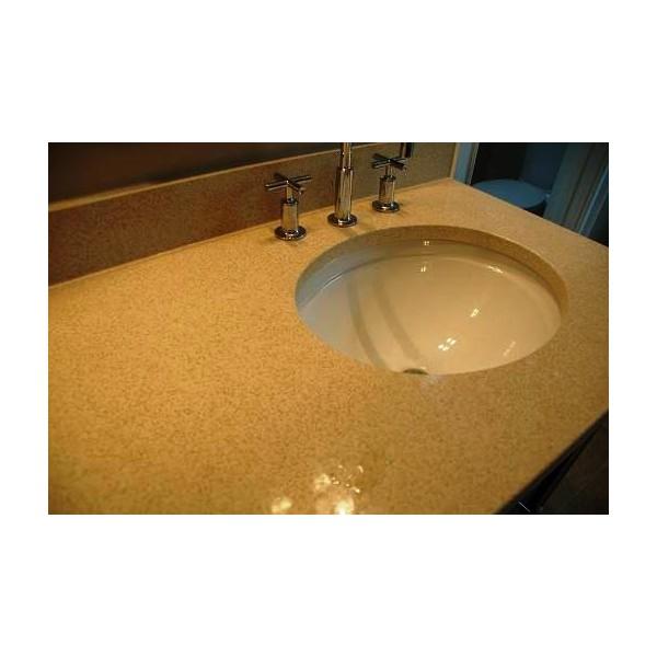 Плот за баня от технически камък с светъл цвят пример