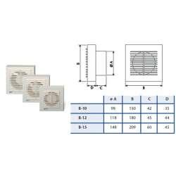 Cata B 15 вентилатор за баня 2