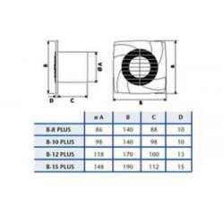 Cata B 12 Plus вентилатор за баня 2