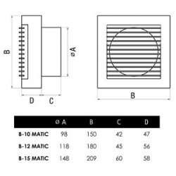 Cata B 15 Matic вентилатор за баня 2