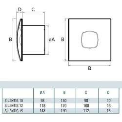 Cata SILENTIS 12 инокс вентилатор за баня 2