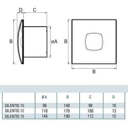 Cata SILENTIS 15 инокс вентилатор за баня 2