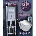 Промоция структура за вграждане + конзолна тоалетна с биде + смесител за вграждане