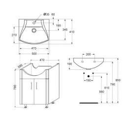 PVC долни Vidima Korona от 50см, 55см и 60см 2