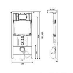 Структура за вграждане KOLO SLIM 2