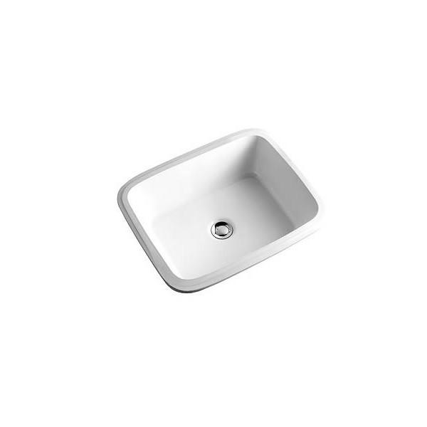 Правоъгълна мивка за вграждане под плот KOLO Style 46x35 без отвор L21846