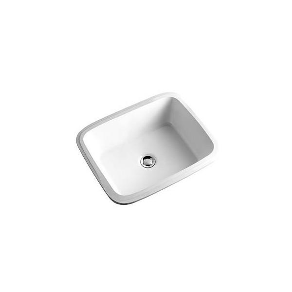 Правоъгълна мивка за вграждане под плот KOLO Style 50x38 без отвор L21850