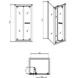 Сгъваема врата KOLO Geo 6 80см 2