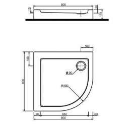 Овална поддушова ваничка KOLO Simplo 80x80 2