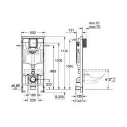 Структура за вграждане Grohe Rapid SL за WC с вертикална опора 2