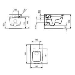 Конзолна тоалетна чиния Ideal Standard Simply U 2