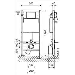 Schell структура за вграждане за WC 1