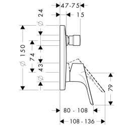 Hansgrohe Focus смесител за вграждане с превключвател 2