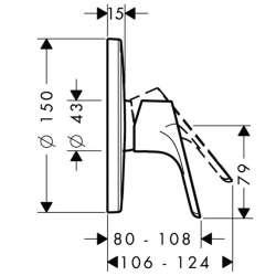 Hansgrohe Focus смесител за вграждане без превключвател 2