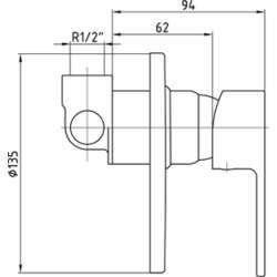 E.C.A. ELEA смесител за вграждане за душ 2