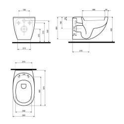 Висяща тоалетна чиния KOLO Ego 2