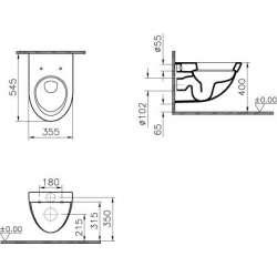 Промоция конзолна чиния Form 500 с плавно падане с/без биде 2