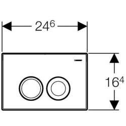 Geberit Delta 21 хром мат активатор за WC 2