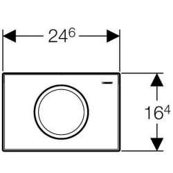 Geberit Delta 11 хром мат активатор за WC 2