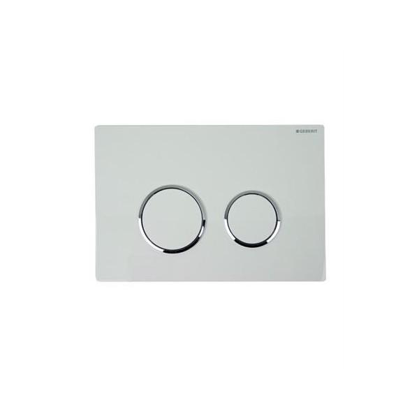 Geberit Sigma 20 бял/хром лъскав/бял активатор за WC