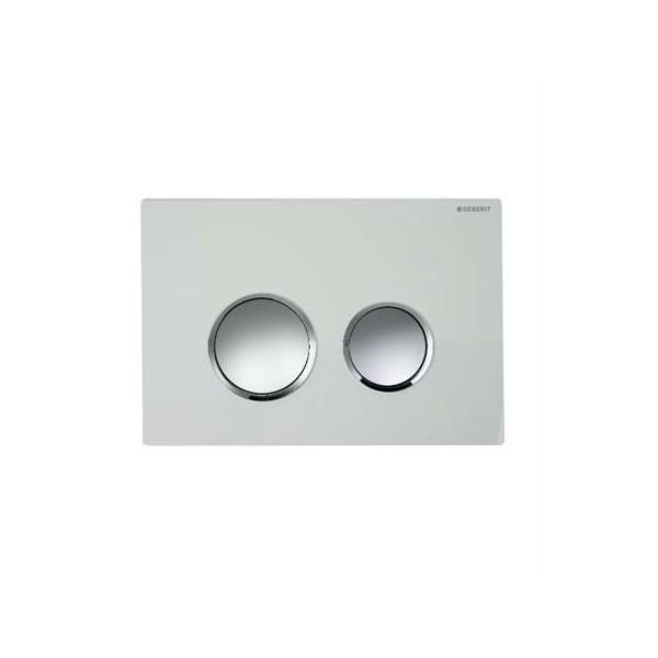 Geberit Sigma 20 бял/хром мат/хром мат активатор за WC