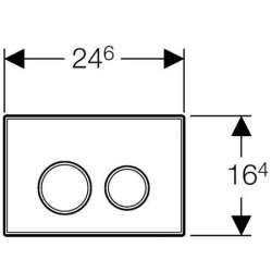 Geberit Sigma 20 хром лъскав/мат/лъскав активатор за WC 2