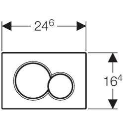 Geberit Sigma 01 хром лъскав/мат активатор за WC 1