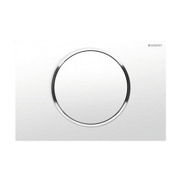 Geberit Sigma 10 бял/хром лъскав/бял активатор за WC