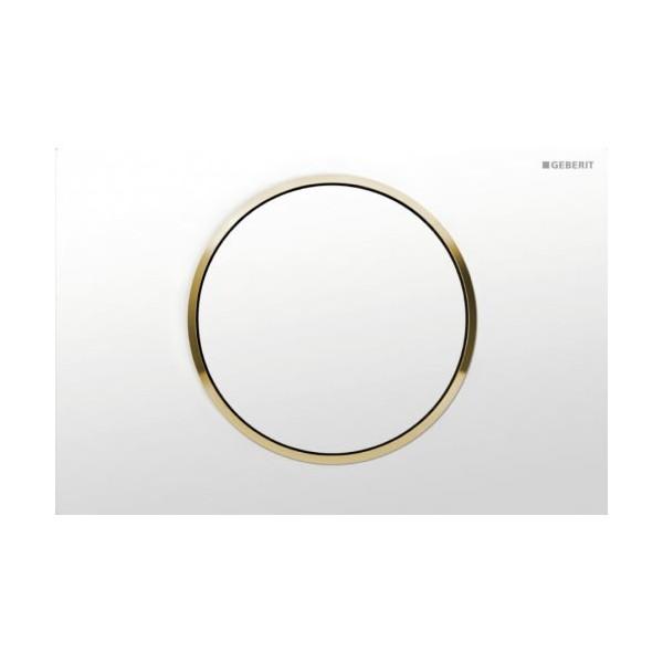Geberit Sigma 10 бял/златен/бял активатор за WC 115.758.KK.5