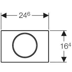 Geberit Sigma 10 хром мат/лъскав/мат активатор за WC 2